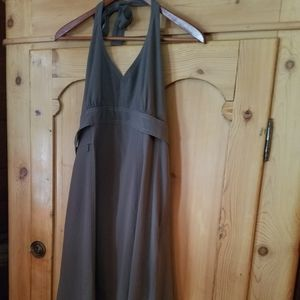 Athleta pack everywhere summer dress olive L